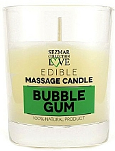 Parfums et Produits cosmétiques Bougie de massage naturelle Chewing-gum - Sezmar Collection Bubble Gum