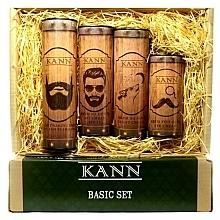 Parfums et Produits cosmétiques Coffret cadeau - Kann Basic Man (f/d/cr/50ml + f/n/cr/50ml+ f/gel/150ml + eye/cr/15ml)
