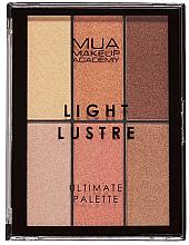Parfums et Produits cosmétiques Palette de maquillage - MUA Light Lustre Ultimate Palette Bronze, Blush, Highlight