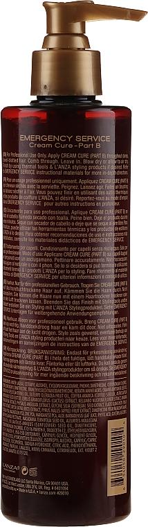 Traitement à la kératine pour cheveux, étape B - L'anza Keratin Healing Oil Emergency Service Cream Cure Part B — Photo N2