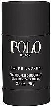 Parfums et Produits cosmétiques Ralph Lauren Polo Black - Déodorant stick sans alcool