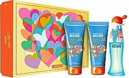 Parfums et Produits cosmétiques Moschino I Love Love - Coffret (eau de toilette/50ml + lotion corporelle/100ml + gel bain et douche/100ml)