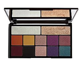 Parfums et Produits cosmétiques Palette 10 fards à paupières et 2 illuminateurs - Makeup Revolution X Carmi Kiss Of Fire Palette