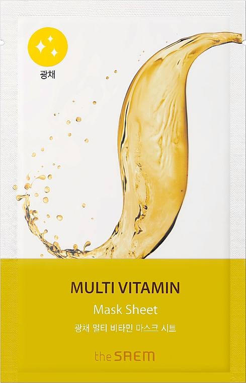 Masque tissu aux vitamines pour visage - The Saem Bio Solution Radiance Multi Vitamin Mask Sheet
