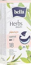 Parfums et Produits cosmétiques Protège-slips, 18pcs - Bella Panty Herbs Plantago Normal