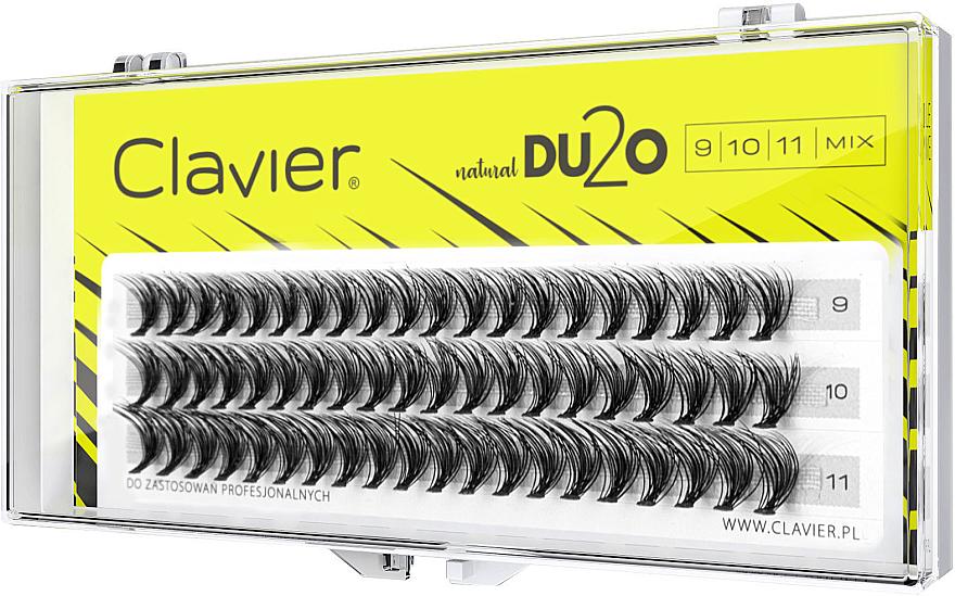 Faux-cils individuels, 9mm, 10mm, 11mm - Clavier DU2O Double Volume MIX — Photo N1