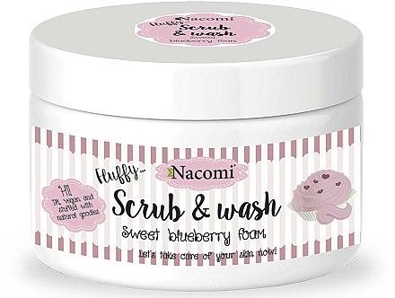Gel douche exfoliant parfumé à la myrtille - Nacomi Scrub and Wash Sweet Blueberry Foam