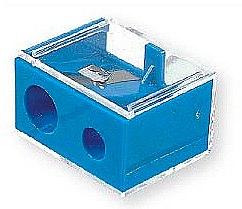 Parfums et Produits cosmétiques Taille-crayon cosmétique double, 2182, bleu avec couvercle, 2182 - Top Choice