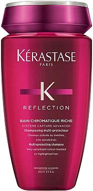 Shampooing à la vitamine E et huile de soja - Kerastase Reflection Bain Chromatique Riche Shampoo