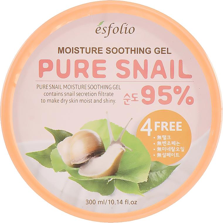 Gel à l'extrait de bave d'escargot pour visage - Esfolio Pure Snail Moisture Soothing Gel 95% Purity