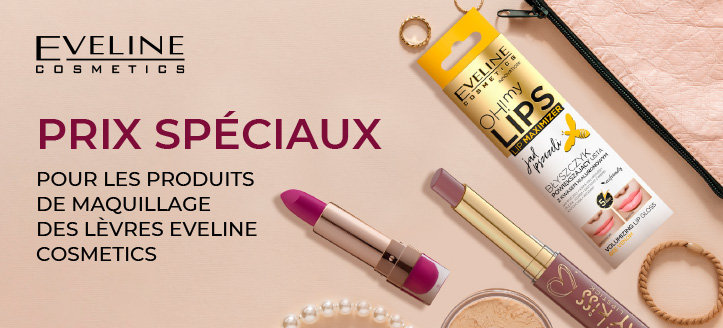 Remise sur l'assortiment promotionnel d'Eveline Cosmetics. Les prix sur le site sont indiqués avec des remises