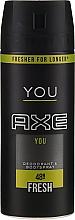 Parfums et Produits cosmétiques Déodorant spray - Axe You Fresh Deodorant Spray