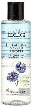 Démaquillant bi-phasé à l'extrait de bleuet pour yeux waterproof - Melica Organic The Two Phase Make-Up Remover