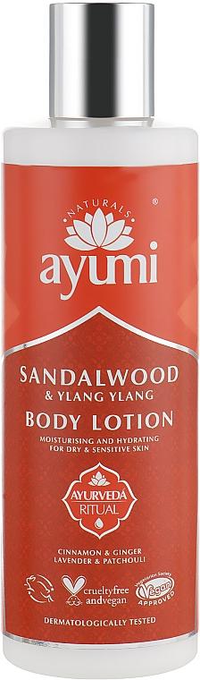 Lotion végane à l'huile de bois de santal pour corps - Ayumi Sandalwood & Ylang Ylang Body Lotion — Photo N1