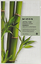 Parfums et Produits cosmétiques Masque tissu à l'extrait de bambou pour visage - Mizon Joyful Time Essence Mask Bamboo