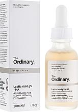 Parfums et Produits cosmétiques Sérum peeling à l'acide lactique pour visage - The Ordinary Lactic Acid 5% + HA 2%