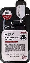 Parfums et Produits cosmétiques Masque tissu au charbon actif et mineraux pour visage - Mediheal H.D.P. Pore-Stamping Black Mask EX