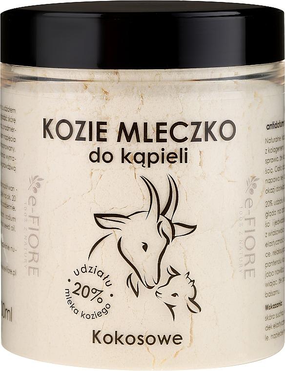 Lait de bain de chèvre Noix de coco - E-Fiore Coconut Bath Milk
