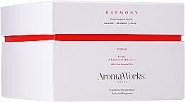 Parfums et Produits cosmétiques Bougie parfumée avec 3 mèches, Rose et bergamote - AromaWorks Harmony Candle 3-wick