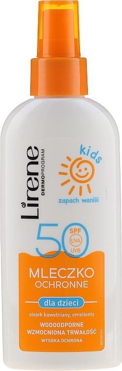 Spray solaire à l'huile de coton pour enfants - Lirene Kids Sun Protection Milk Spray SPF 50 — Photo N1