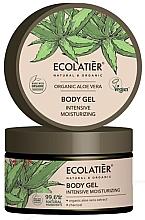 Parfums et Produits cosmétiques Gel à l'extrait d'aloe vera et charbon pour corps - Ecolatier Organic Aloe Vera Intensive Moisturizing Body Gel