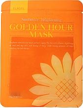 Parfums et Produits cosmétiques Masque tissu à l'huile de tournesol pour visage - Elroel Golden Hour Mask Sunflower Brightening