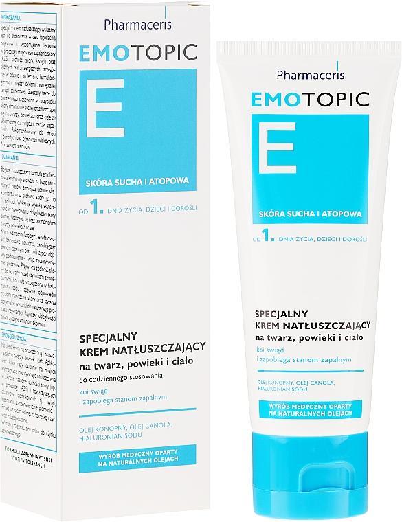 Crème aux huiles de chanvre et colza pour visage et corps - Pharmaceris E Emotopic Special Cream