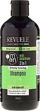 Parfums et Produits cosmétiques Revuele Men Charcoal + Green Tea 2in1 Shampoo - Shampooing et après-shampooing anti-pelliculaire au charbon et thé vert