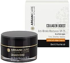 Parfums et Produits cosmétiques Crème au collagène et huile d'argan pour visage - Arganicare Collagen Boost Anti Wrinkle Moisturizer SPF25