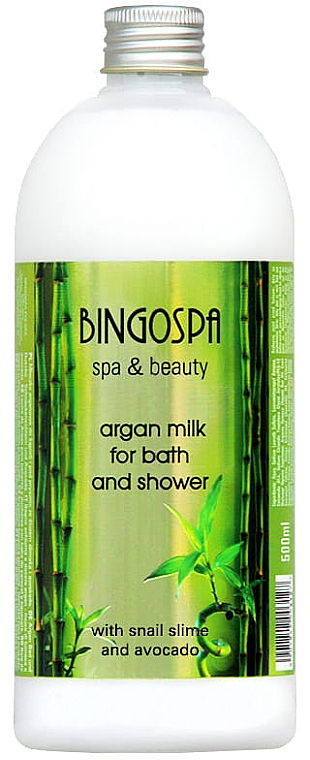 Lait de bain à l'argan et avocat - BingoSpa Argan Milk With Avocado And Snail Mucus Bath And ShowerBingoSpa
