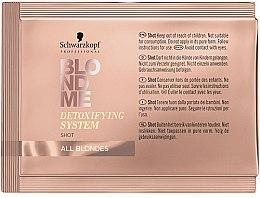 Parfums et Produits cosmétiques Concentré détoxifiant pour cheveux - Schwarzkopf Professional BlondMe Detoxifying System Shot