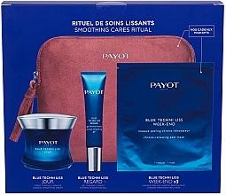 Parfums et Produits cosmétiques Payot Blue Techni Liss Smoothing Cares Ritual - Coffret (crème visage/50ml + crème yeux/15ml + masque/3pcs + trousse de toilette)