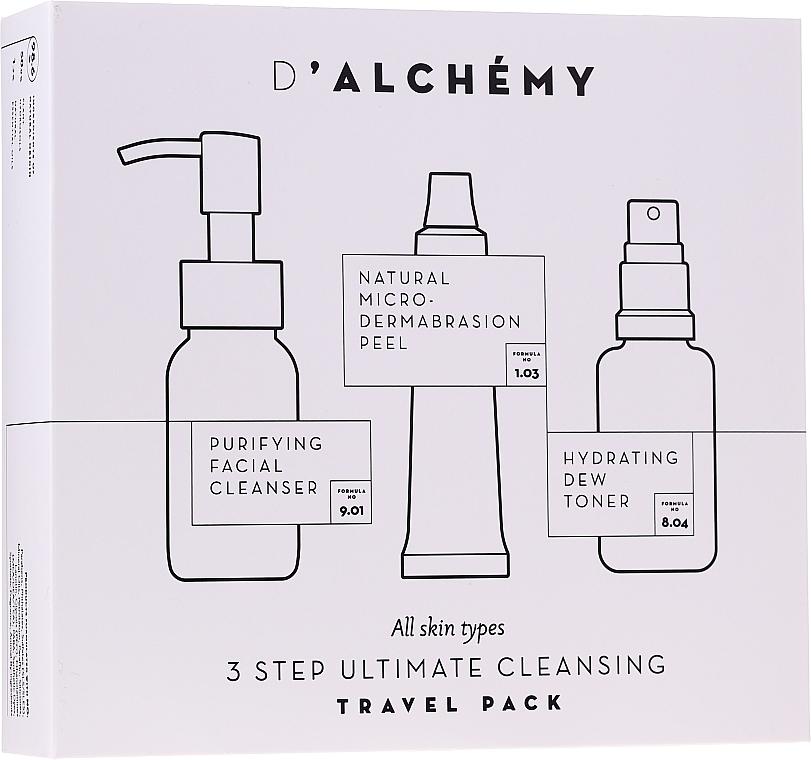 Zestaw - D'Alchemy 3 Step Ultimate Cleansing Travel Pack (toner/30ml + f/cleanser/50ml + f/peel/15ml)