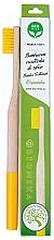 Parfums et Produits cosmétiques Brosse à dents bio en bambou, souple, jaune - Biomika Natural Bamboo Toothbrush