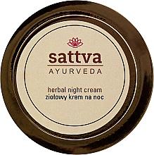 Parfums et Produits cosmétiques Crème de nuit aux herbes pour visage - Sattva Ayurveda Herbal Night Cream
