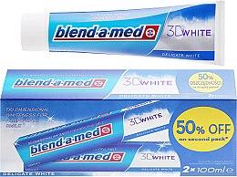 Parfums et Produits cosmétiques Lot de 2 dentifrices blanchissants - Blend-a-med 3D White Delicate White Toothpaste