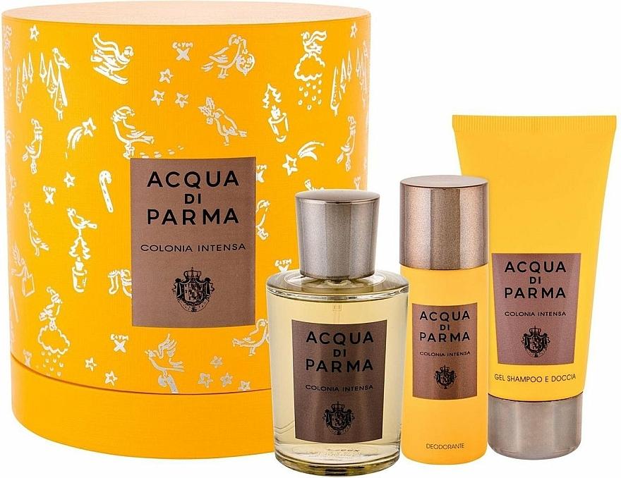 Acqua Di Parma Colonia Intensa - Coffret (eau de Cologne/100ml + gel douche et shampooing/75ml + déodorant/50ml)
