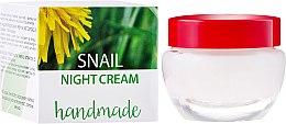 Parfums et Produits cosmétiques Crème de nuit artisanale à l'extrait de bave d'escargot - Hristina Cosmetics Handmade Snail Night Cream