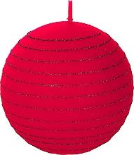 Parfums et Produits cosmétiques Bougie décorative, Boule de Noël rouge, 10cm - Artman Andalo