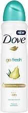 Parfums et Produits cosmétiques Déodorant spray à l'extrait de poire et aloe - Dove Go Fresh Pear & Aloe Vera Scent