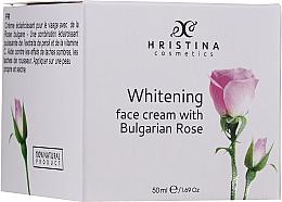 Parfums et Produits cosmétiques Crème à l'extract de rose bulgare pour visage - Hristina Cosmetics Whitening Face Cream With Bulgarian Rose