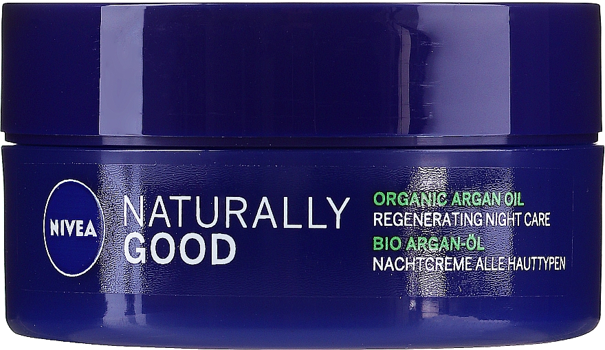 Crème de nuit à l'huile d'argan - Nivea Naturally Good Night Regeneration Care