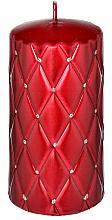 Parfums et Produits cosmétiques Bougie décorative, rouge, 7x14 cm - Artman Florence