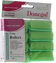 Parfums et Produits cosmétiques Lot de 8 bigoudis mousse 25 mm, vert - Donegal Sponge Curlers