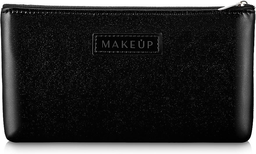 Trousse de toilette plate, noire - Makeup