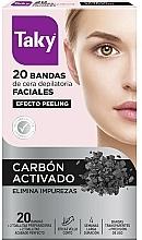 Parfums et Produits cosmétiques Bandes de cire au charbon actif pour visage - Taky Activated Carbon Facial Wax Strips