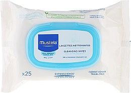 Parfums et Produits cosmétiques Lingettes nettoyantes hypoallergénique, format voyage - Mustela Facial Cleansing Wipe