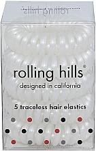 Parfums et Produits cosmétiques Élastiques à cheveux, blanc - Rolling Hills 5 Traceless Hair Rings White