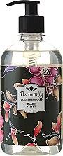 Parfums et Produits cosmétiques Savon liquide à l'huile de thé vert et patchouli pour mains - Naturally Hand Soap Black Velvet