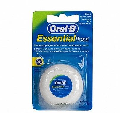 Fil dentaire ciré goût menthe, 50 m - Oral-B Essential Floss